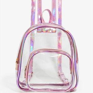 Handbags - Pink Transparent Backpack